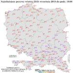 Na południu Polski wiatr przekraczał 100 km/h