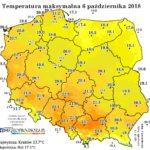 Przejściowe pogorszenie pogody, a potem powrót do słonecznej ciepłej aury