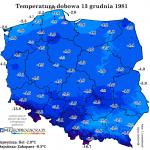 Zimowa rocznica czyli jaka była pogoda 13 grudnia 1981
