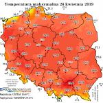 Przegląd temperatury ostatnich 10 dni
