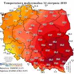 Sierpień na razie bez termicznych ekstremów