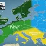 Polska pogodowo podzielona w czasie zimy?