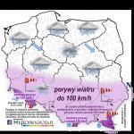 UWAGA! Silne porywy wiatru 23/24 lutego