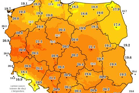 Bardzo ciepły i wilgotny sierpień 2020