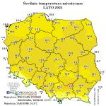 Anomalnie ciepłe lato 2021 pomimo chłodnego sierpnia